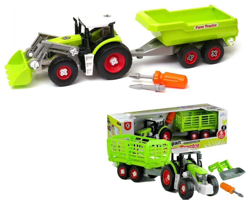 Šróbovací traktor s vlečkou 45cm, 2druhy - náhodné