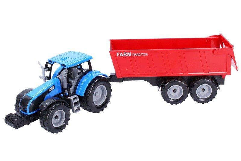 Traktor s vlečkou na zotrvačník