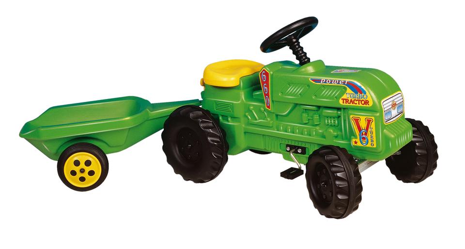 Traktor šlapací s vlečkou 140cm