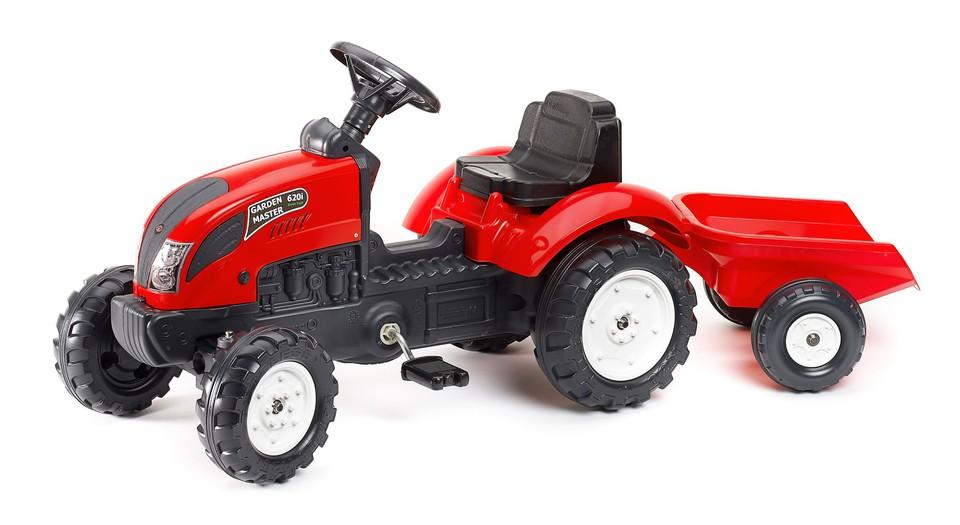 Traktor šliapací červený