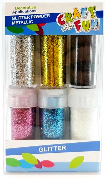 Trblietky sypké mix farieb 10g/6ks