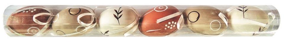 Veľkonočné plastové vajíčka, závesné 6cm