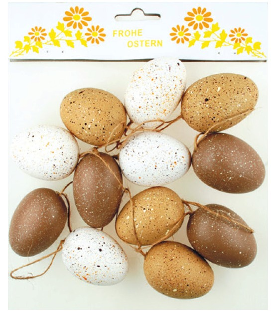 Vajíčka veľkonočné 6cm,12ks