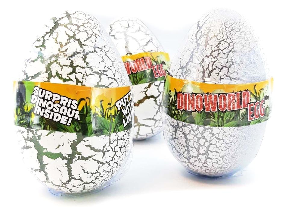 Vajíčko Dino na batérie 9cm