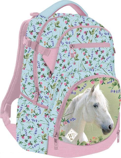 Školský batoh Wild Beauty Biely kôň