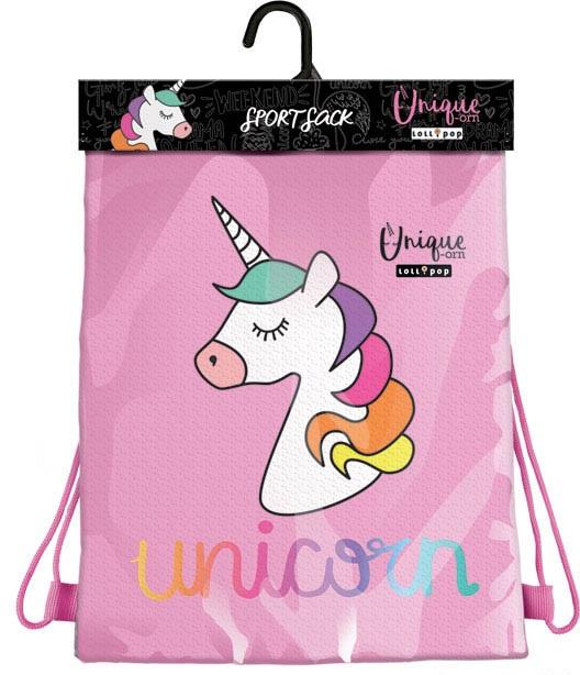 Vak na prezuvky Lollipop Unicorn 32x44cm