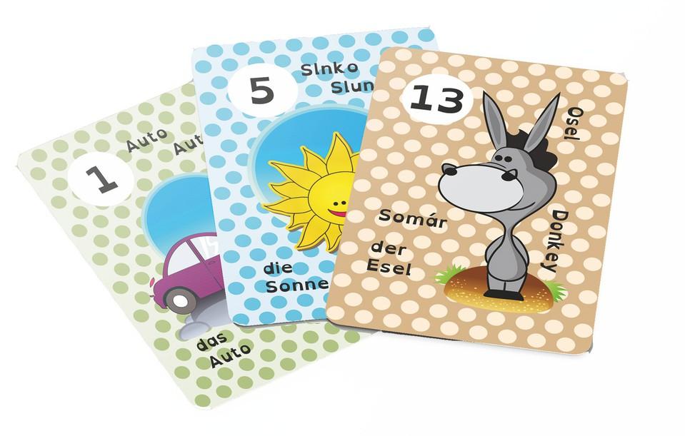 Karty vedomostné 4-jazyčné