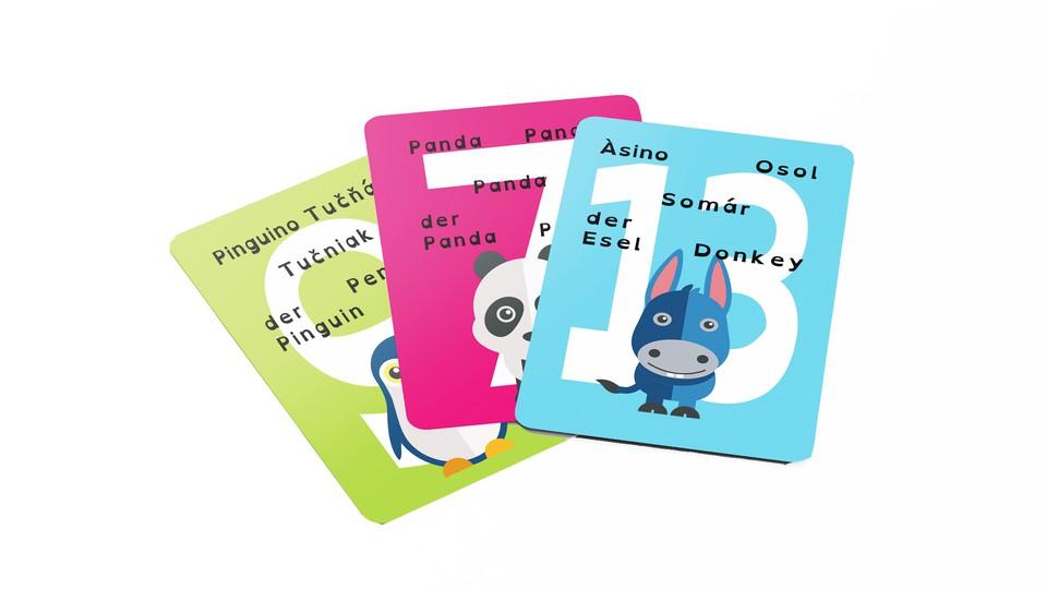 Karty vedomostné 5-jazyčné