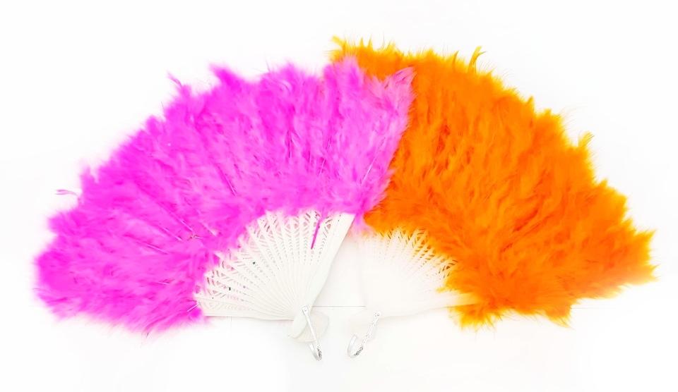 Vejár na karneval 25cm - ružová