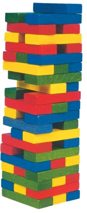 Drevená farebná veža Jenga 54ks