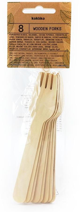 Drevené vidličky 8ks