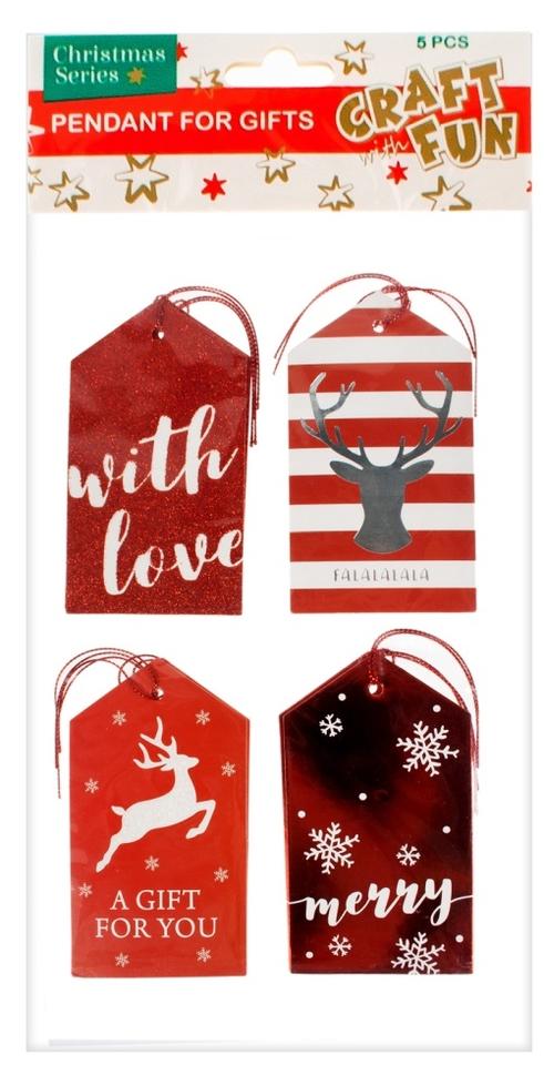 Vianočná dekorácia kartičky na darčeky 20ks