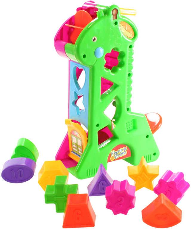 Vkladačka žirafa plastová