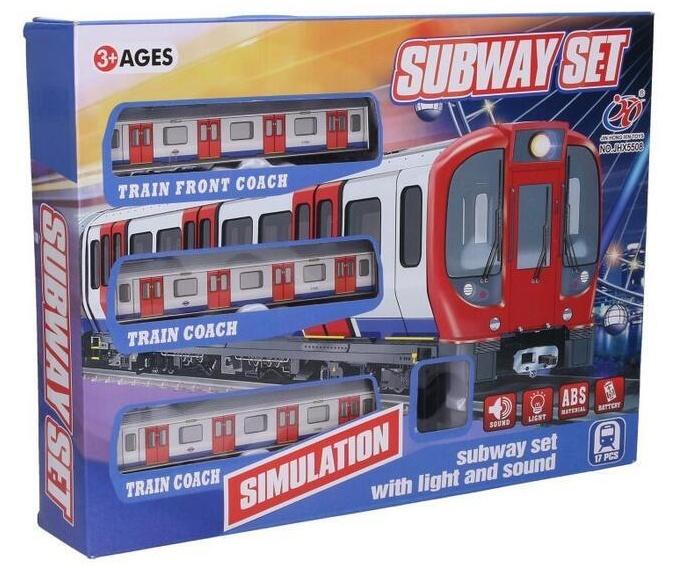 Vlak metro s efektami set dľžka trate 88cm