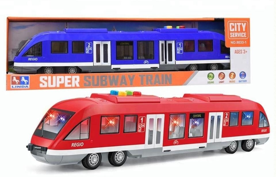 Vlak s efektami 45cm - modrá