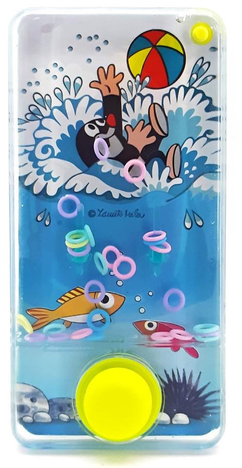 Vodná hra krtko s mobilom 14x7cm