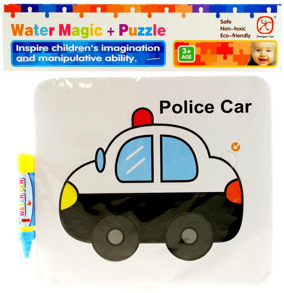 Vodné maľovanie- policajné auto