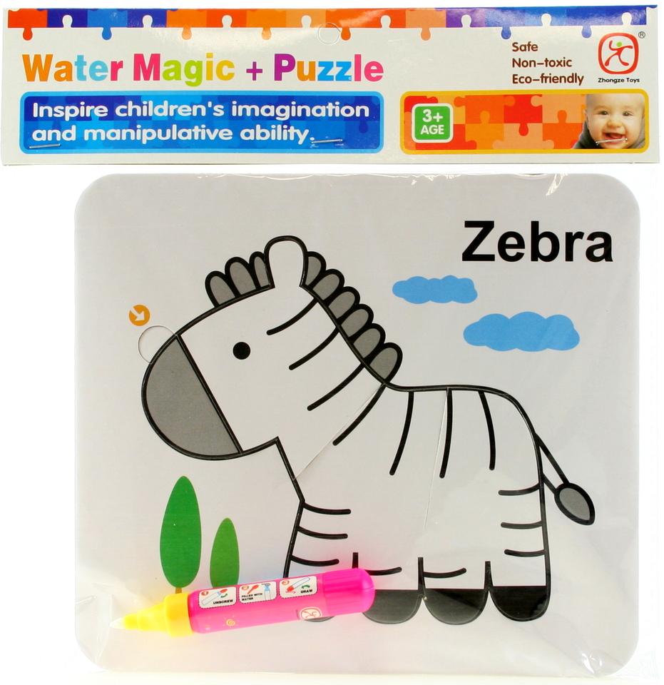 Vodné maľovanie - zebra