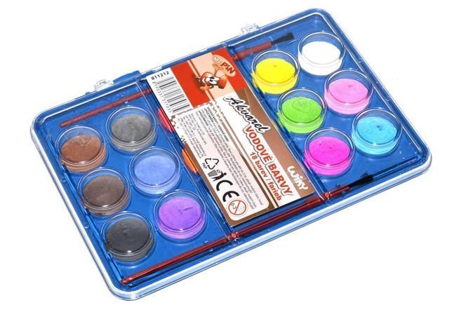 Farby vodové 18-farebné