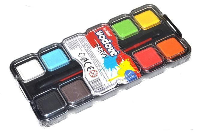 Farby vodové 12 farieb