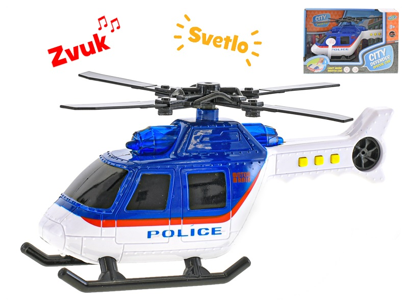 Vrtuľník polícia s efektmi 18cm