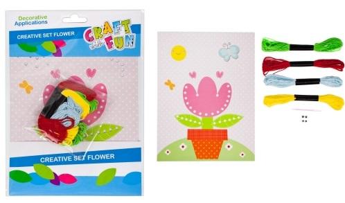 Kreatívna súprava vyšívanie kvet