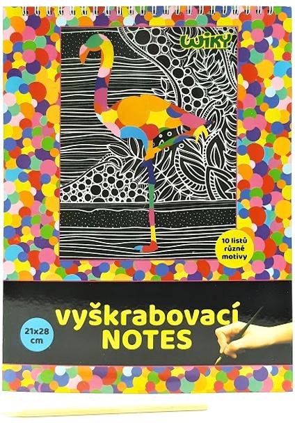 Vyškrabovací notes rôzne motívy 10listov