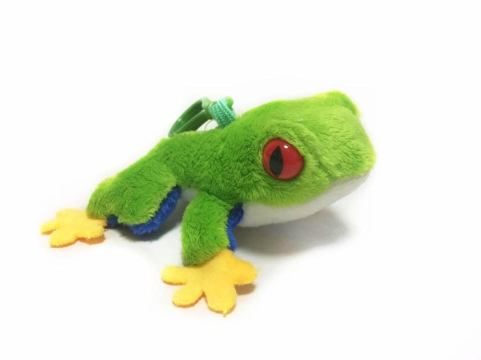 Žaba plyšová - kľúčenka