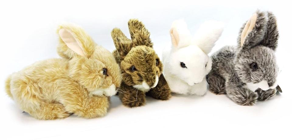 Plyšový zajac 17cm 4farby - sivá