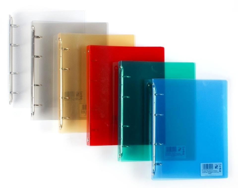 Zakladač A5 4 krúžky Mix - modrá