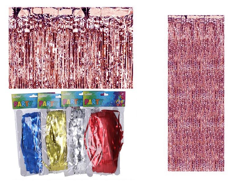 Papierový záves strapce 90x240cm - červená