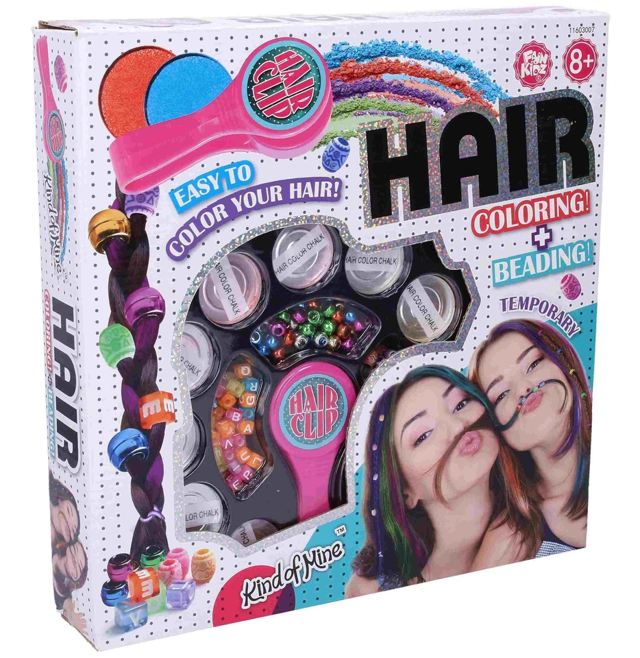 Farebné zdobenie vlasov s korálkami