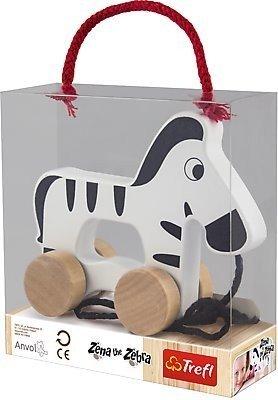 Zebra drevená na ťahanie