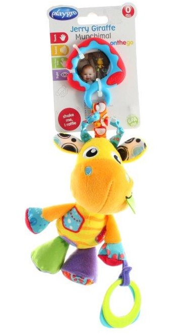 Playgro Žirafa na zavesenie s hryzátkom