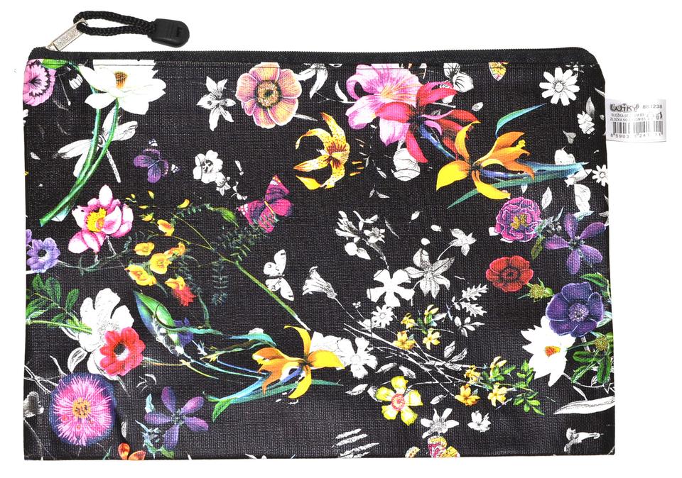 Zložka so zipsom kvetinkové B5