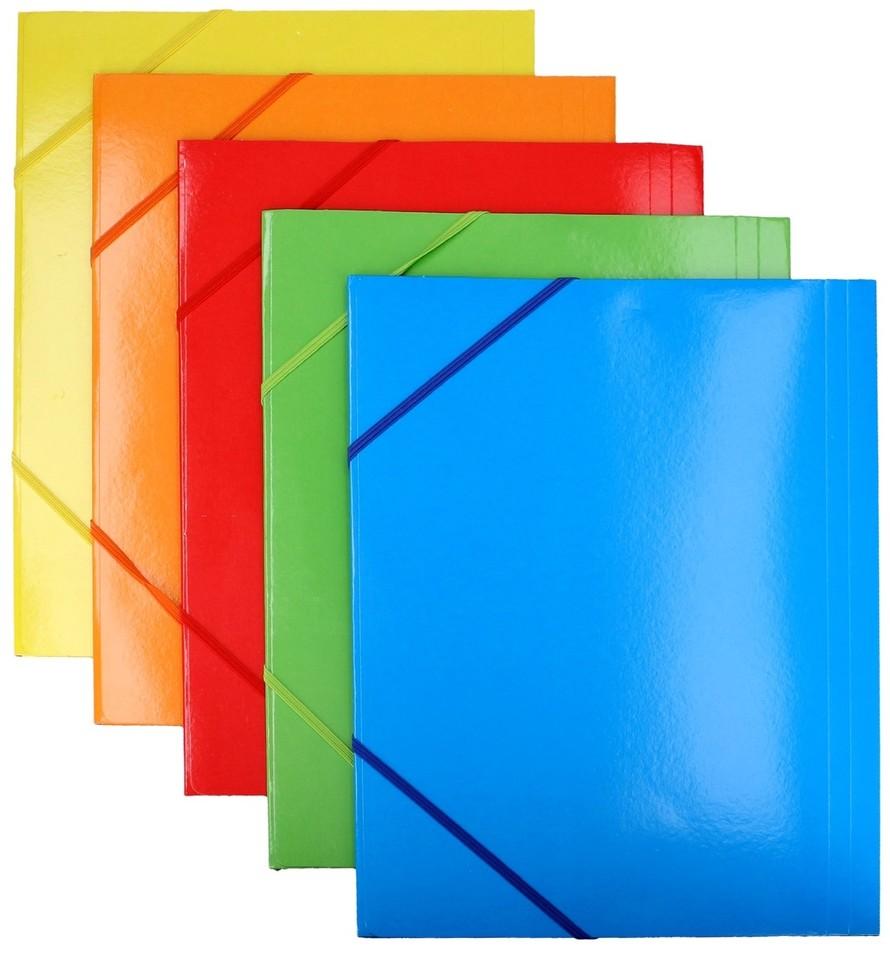Farebná zložka A4 s gumovu 31,5x23,5cm - náhodná