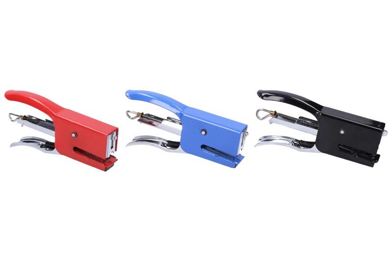 Zošívačka kliešťová kovová - modrá