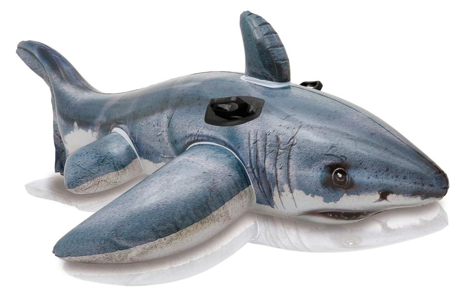 Intex 57525 Nafukovací biely žralok 173x107cm