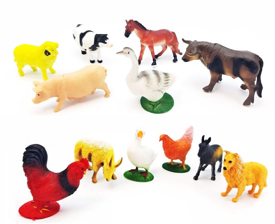 Zvieratká na farme set 12ks