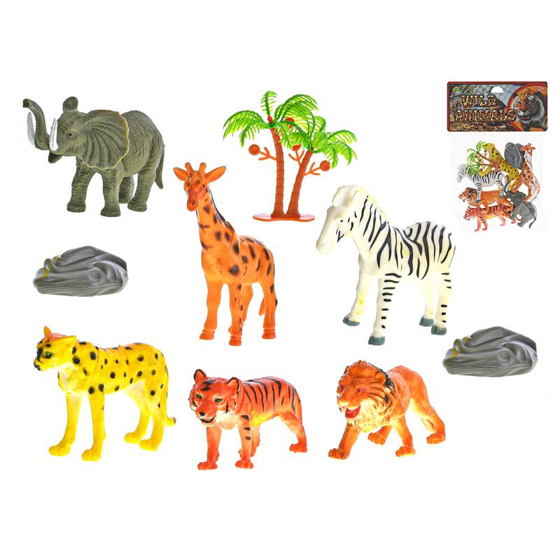 Zvieratká safari 6ks s doplnkami 10cm