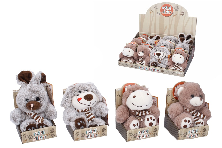 Plyšové zvieratko 4druhy/13cm - medveď