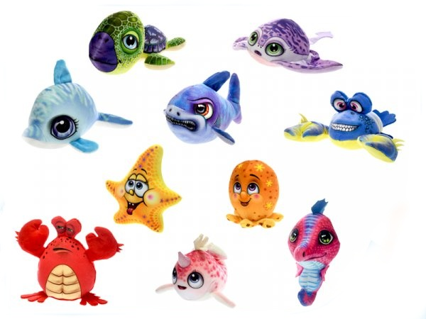 Plyšové morské zvieratká, 10 druhov - žralok
